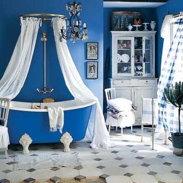 Country Living niebieskie inspiracje