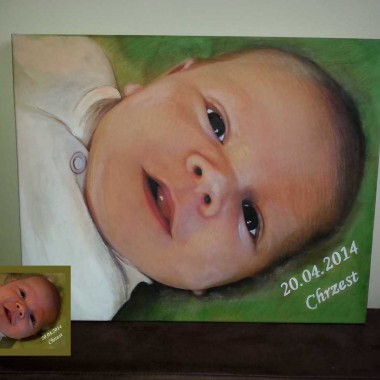 Portret malowany na płótnie