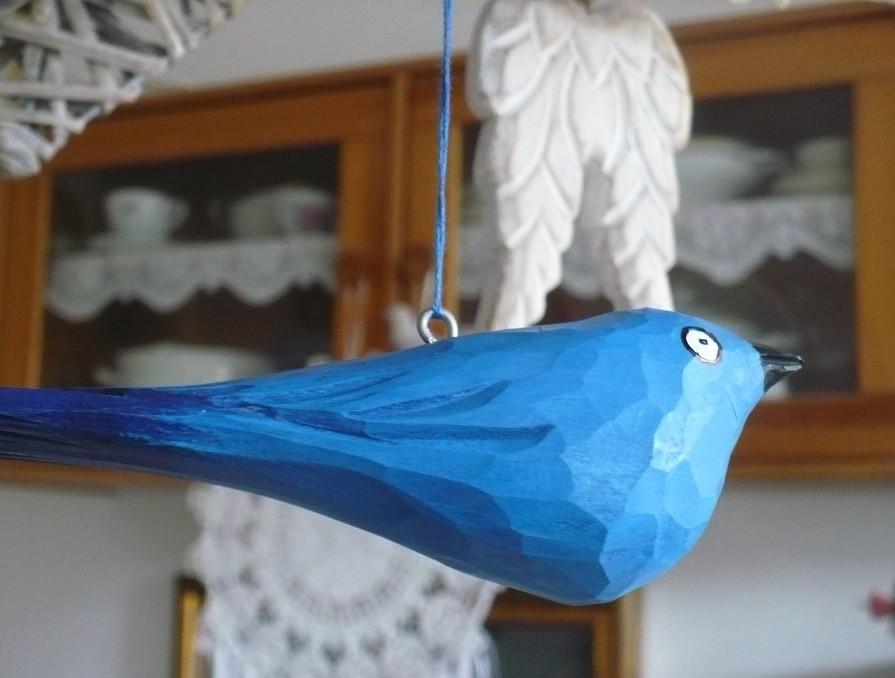 Pozostałe, Jak zmieniało się moje mieszkanie.................. - .............a to ostatni zakup z Jarmarku , niebieski ptaszek..............