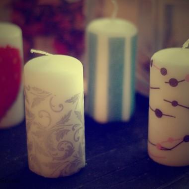 Ozdabianie świeczki serwetką - DIY
