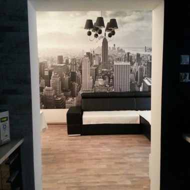 niewielki pokój dzienny