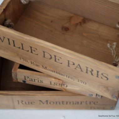 Drewniane skrzynki