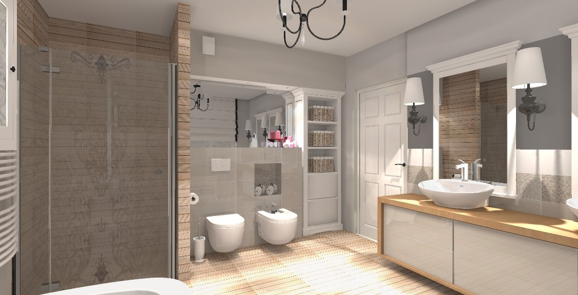 Pozostałe, Bełchatów - projekt łazienki w stylu skandynawskim - www.housestyle.com.pl