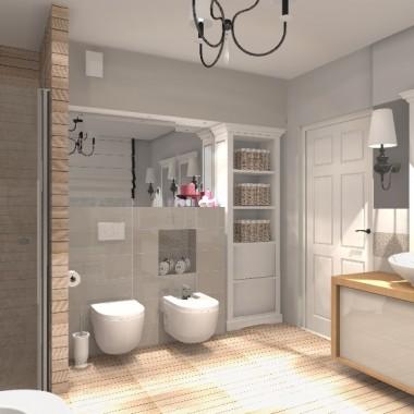 Bełchatów - projekt łazienki w stylu skandynawskim
