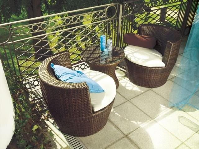 Balkon, Meble balkonowe - Wiklinowe