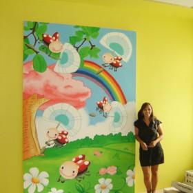 Artystyczne malowanie ścian, sal zabaw, przedszkoli, pokoi dziec