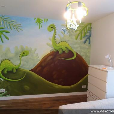 artystyczne malowanie ścian, malowidła ścienne, malunki na ścianie, pokój dziecięcy, pokój dla dziecka, pokój dla dziewczynki, pokój dla chłopca, pokój dla dziewczynki, dekoracja ścian, dinozaury