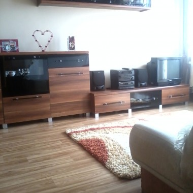 Mini salon w mieszkaniu w bloku
