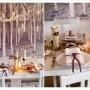 Pozostałe, Na świątecznym stole - Biała klasyczna zastawa stołowa w towarzystwie białego szkla. Akcent rustikalny podkreślają świeczniki ustawione na stole w postaci małych drzewek. Prostota tego elementu tworzy niepowtarzalny klimat. Fioletowa wstążka zawiązana wokół serwetki doda wnętrzu odświętny charakter.