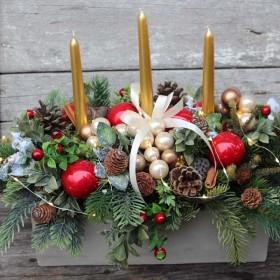 Dekoracje świąteczne na stół wigilijny