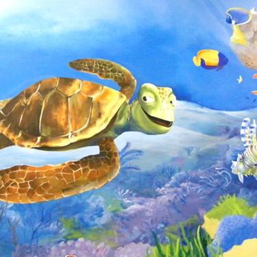 artystyczne malowidło dziecięce - podwodny świat