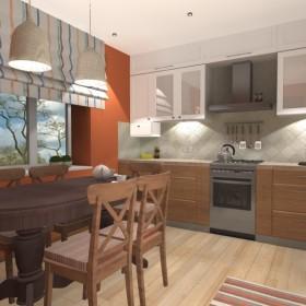 Projekt kuchni 13 metrów w domku jednorodzinnym