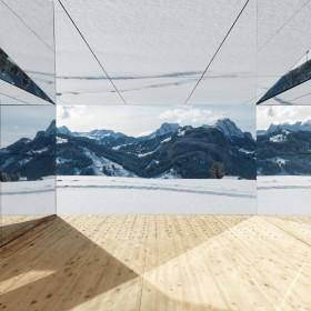 Lustrzany dom w Alpach