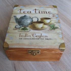 Decoupage tym razem...herbaciarka
