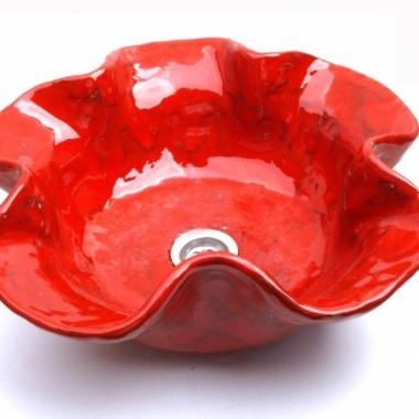 Artystyczna umywalka w kształcie maku (umywalka kwiat maku)