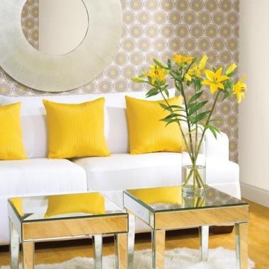 yellow - grey salon