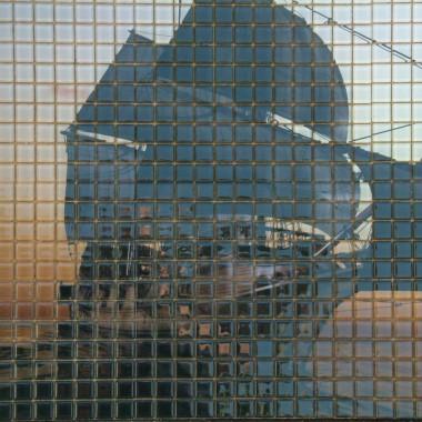"fotomozaika szklana ""statek"""