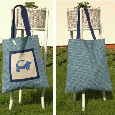ekologiczna torba z jamnikiem