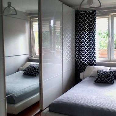 sypialnia przed i po metamorfozie