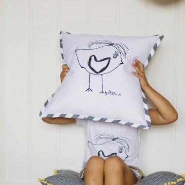 Poduszka z rysunkiem Twojego dziecka