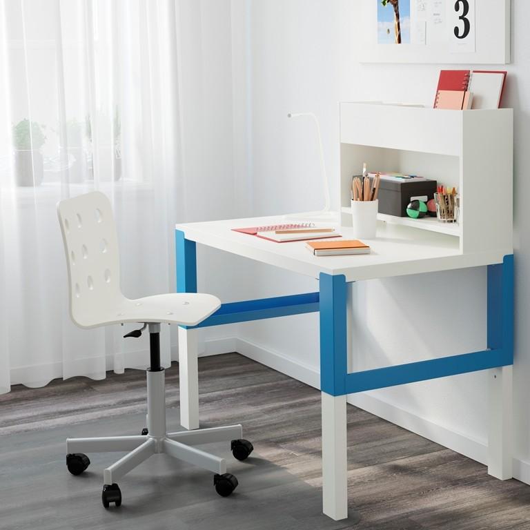 Gabinet, Biurko idealne - PÅHL - Biurko z dostawką, biały, niebieski Cena: 338 PLN  http://www.ikea.com/pl/pl/catalog/products/S39128955/
