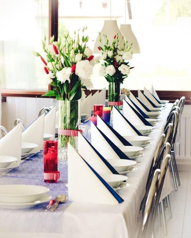 Jadalnia, Dekoracja stołu na chrzciny