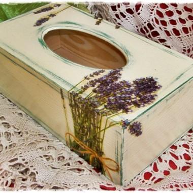 Pudełko na chusteczki z Lawendą