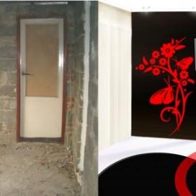 Czarno - czerwono - biały pokoik z duszą...