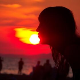 Zachód słońca na Chorwacji