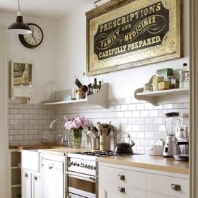 Otwarte półeczki w kuchni