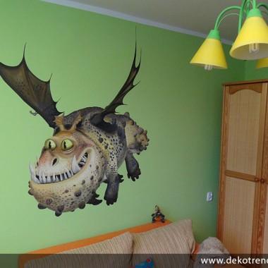 artystyczne malowanie ścian, malowidła ścienne, malunki na ścianie, pokój dziecięcy, pokój dla dziecka, pokój dla dziewczynki, pokój dla chłopca, pokój dla dziewczynki, dekoracja ścian, Łowcy smoków