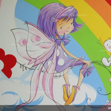 artystyczne malowanie ścian, malowidła ścienne, malunki na ścianie, pokój dziecięcy, pokój dla dziecka, pokój dla dziewczynki, pokój dla dziewczynki, dekoracja ścian, wróżka