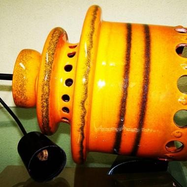 ceramiczna lampa design kolorowych lat 70