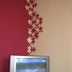 puzzlowe ściany
