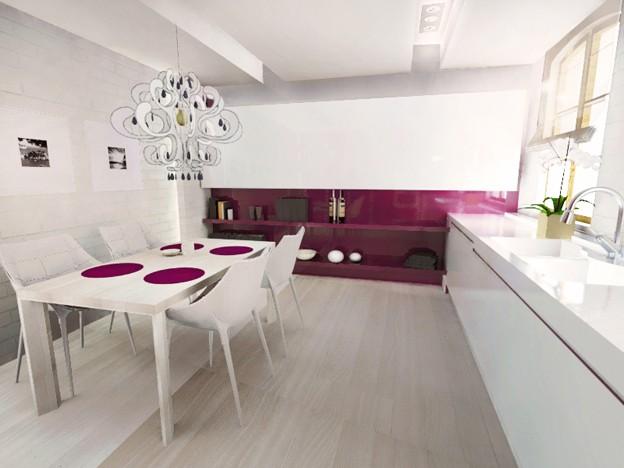 Kuchnia Biało Różowa Deccoriapl