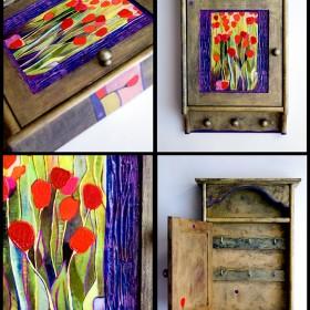 przedmioty codziennego użytku_drewniane ręcznie malowane