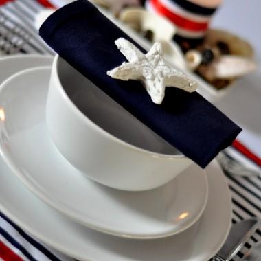 styl marynarski w dekoracji stołu