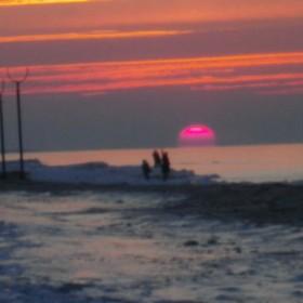 Nietypowy zachód słońca