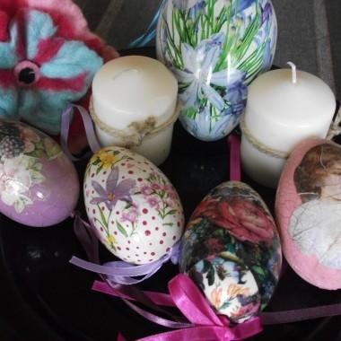 jajka decupage i nowe wiosenne.........