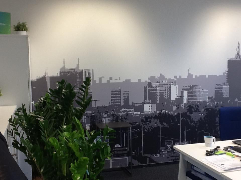 Gabinet, Kolorowe biuro Work Service Poznań - Fototapeta
