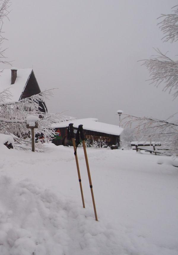 Pozostałe, Zima  jest w górach - moje biegówki  w tym roku nie były używane , a ja się rozleniwiam.