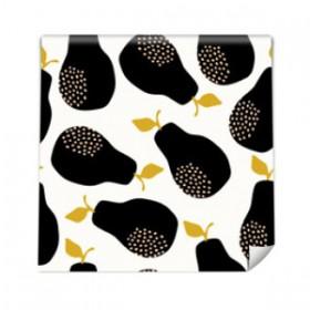 Tapeta flizelinowa - Czarne gruszki