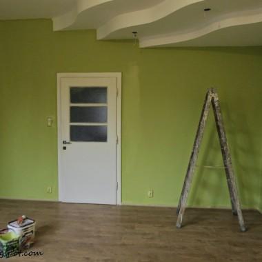Zielono mi - malowanie salonu
