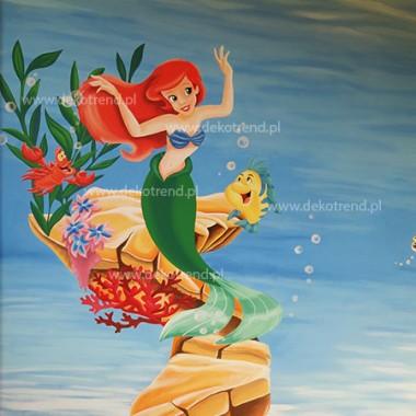 artystyczne malowanie ścian, malowidła ścienne, malunki na ścianie, pokój dziecięcy, pokój dla dziecka, pokój dla dziewczynki, pokój dla dziewczynki, dekoracja ścian, Ariel