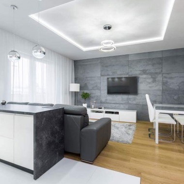 Płyty betonowe do szybkiego montażu od Luxum w klasie INDUSTRIAL. mOCNY EFEKT DEKORACYJNY.