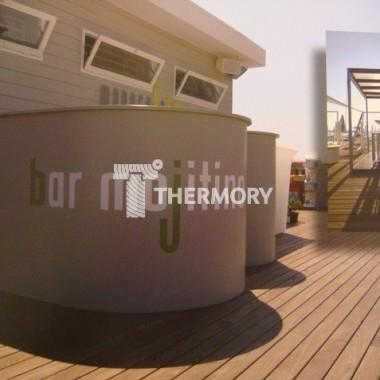 Deski tarasowe Thermory na plaży we Włoszech!