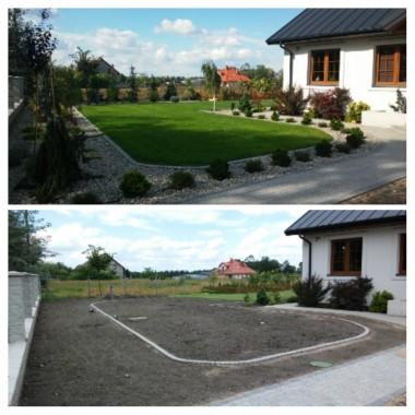 Ogród przed i po