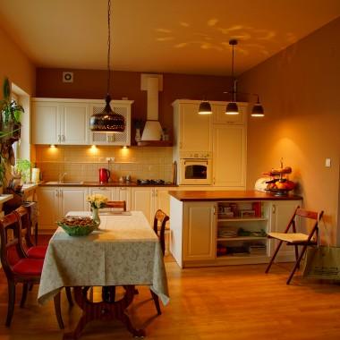 Kuchnia z lampa