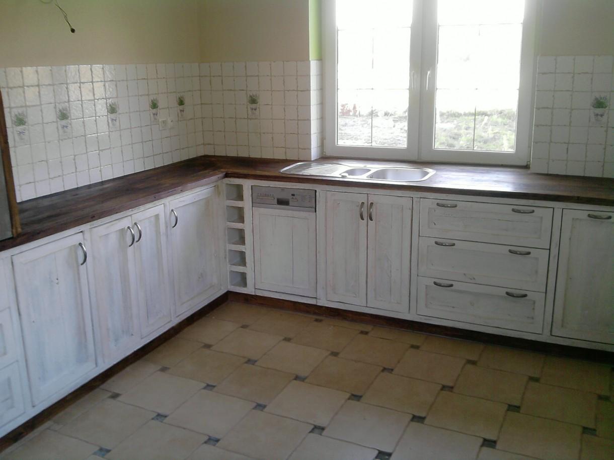 Zdjęcie 26 W Aranżacji Bielona Kuchnia Z Starej Deski