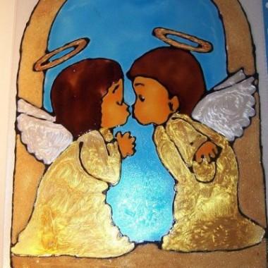 Witraże Świąteczne       -Ręcznie malowane ANIOŁY